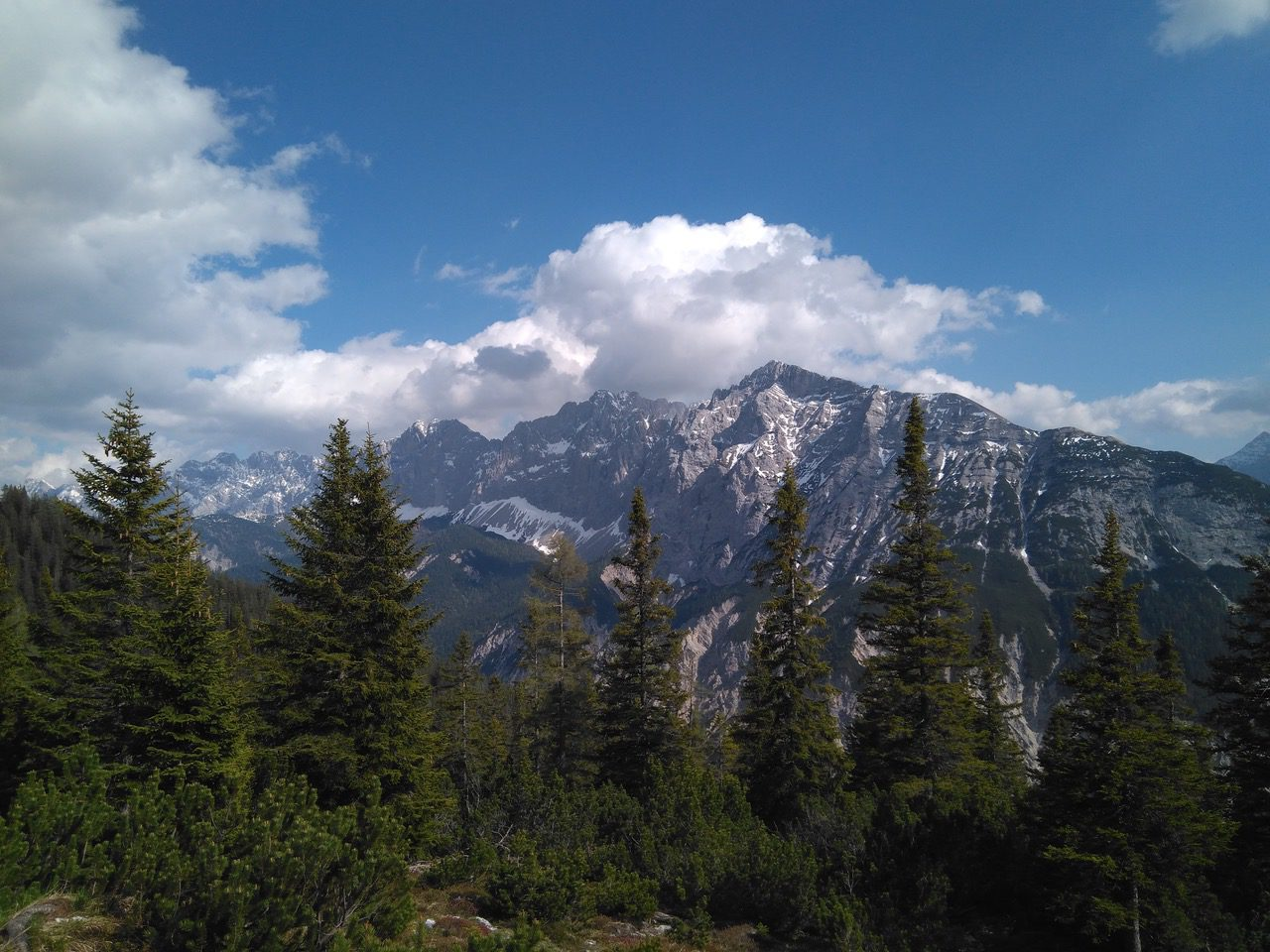 Blick von der pleissenhütte