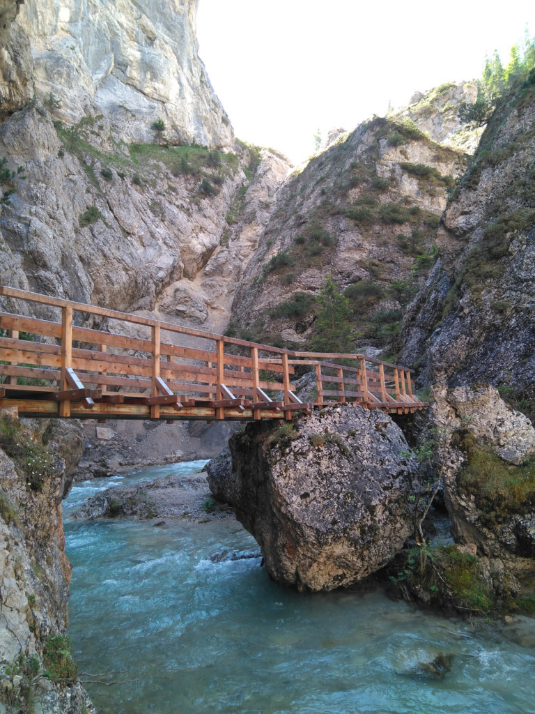 Brücke in der Gleirschklamm