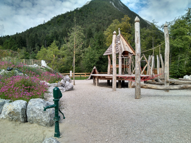 Wasser Spielplatz am Holzer Museum