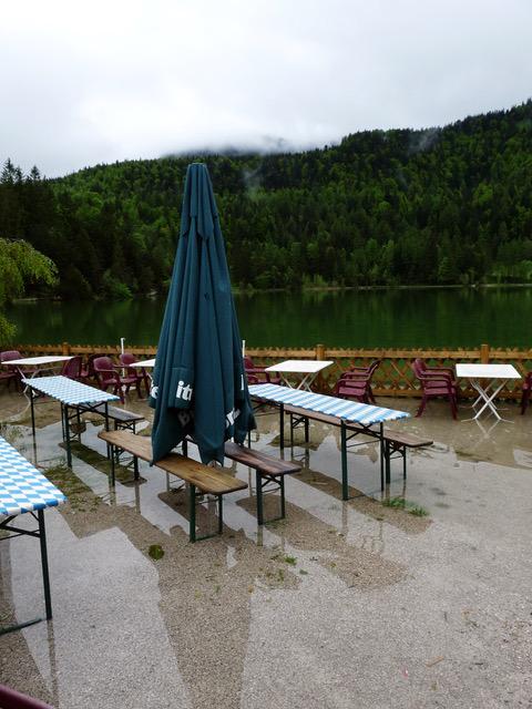 Hochwasser am Lautersee