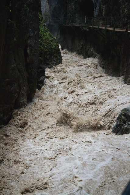 Reissende Fluten der leutascher Ache