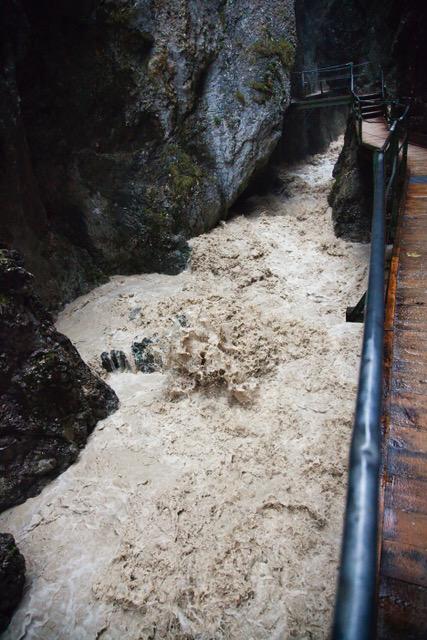 Klammste bei Hochwasser