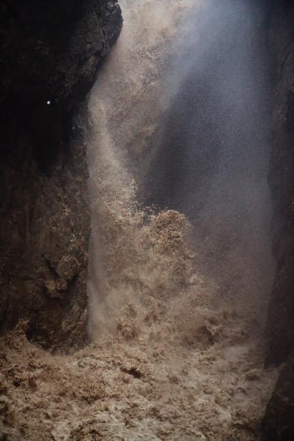 Wasserfall bei Hochwasser