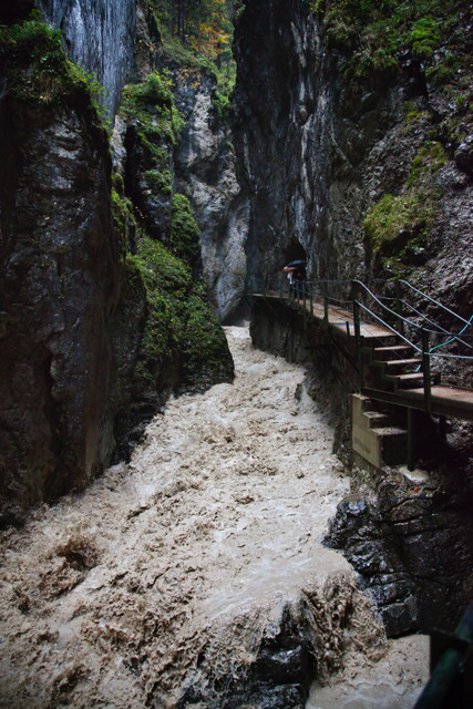 Leutaschklamm bei Hoschwasser