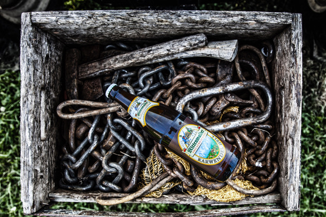 Bier in der Arbeitskiste